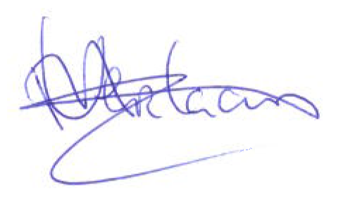 Handtekening Michel Verlaan
